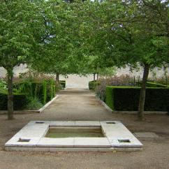 The Royal Gardens, Blois. The central fountain.