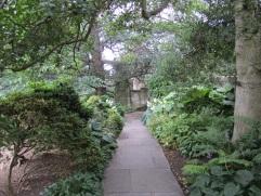 Entering the garden.