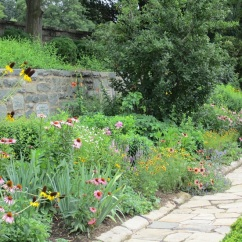 The upper perennial bed.
