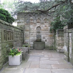 Norman Court, a fountain designed by Florence Brown Bratenahl.