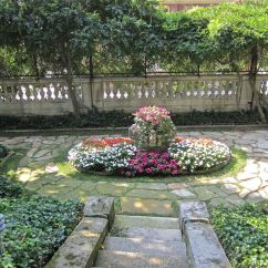 A small lower garden on the north side.
