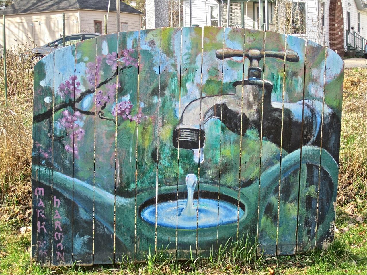 Wordless Wednesday Garden Mural Enclos Ure