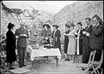 Garden party for the 60th Anniversary of the American Colony of Jerusalem, Sept. 25, 1941.  The Colony had really disbanded by this time.