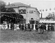About the same time, Alice Roosevelt attended this garden party in Japan, given by the U.S. Ambassador.