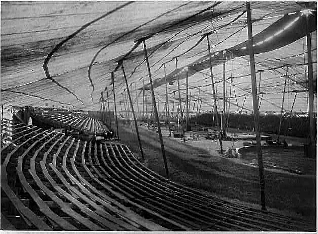 u201cInterior of large circus tent ... & Interior vintage landscape u2013 enclos*ure