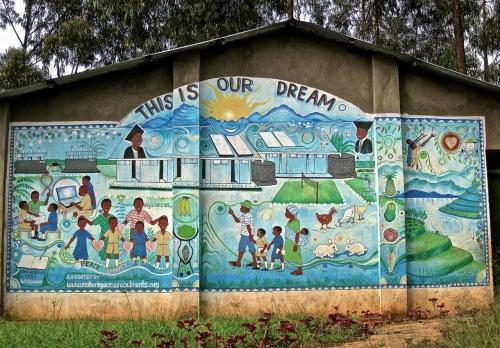 Rwanda school mural
