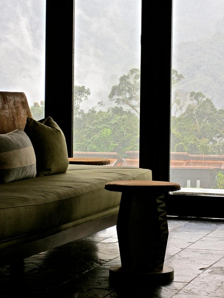 Lodge, interior, windows