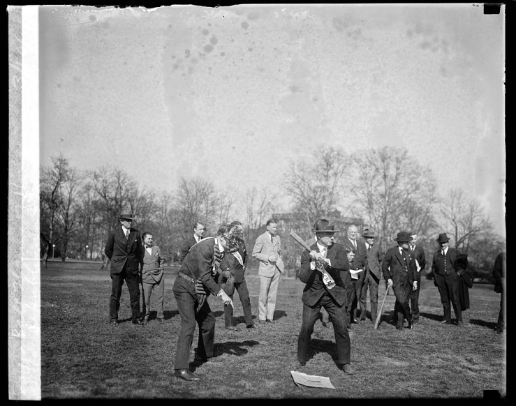March 10, 1926, game between Republicans and Democrats of House, via Library of Congress