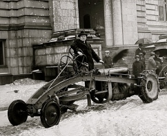 Detail, Ford Motor Co. snow plows, ca. 1910-1925