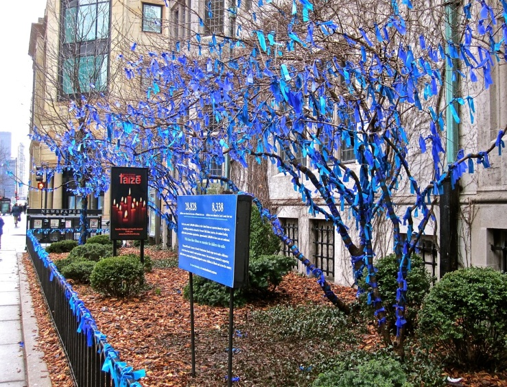 Ribbon trees in Chicago/enclos*ure