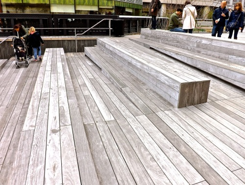High Line steps/enclos*ure