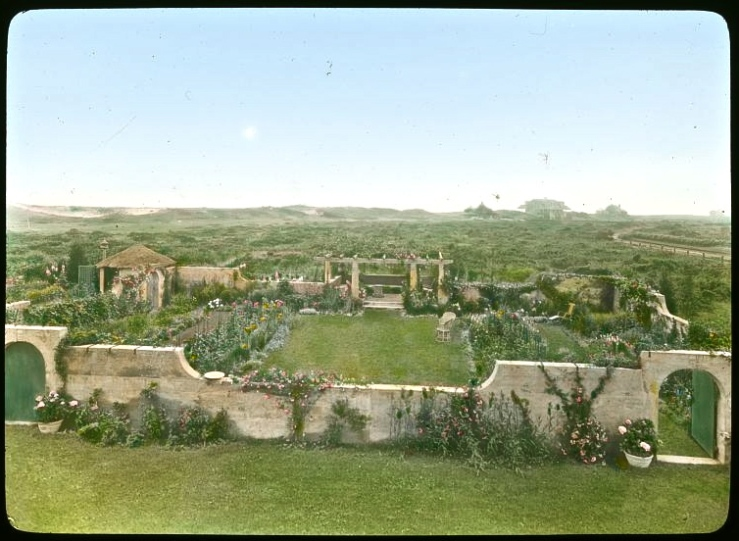View of the walled garden from upstairs in the house. All photos via the Library of Congress Prints and Photographs Division.