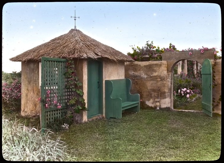 The garden tool house.