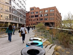 """Walking up to the """"Chelsea Market Passage,"""" formerly a Nabisco factory."""