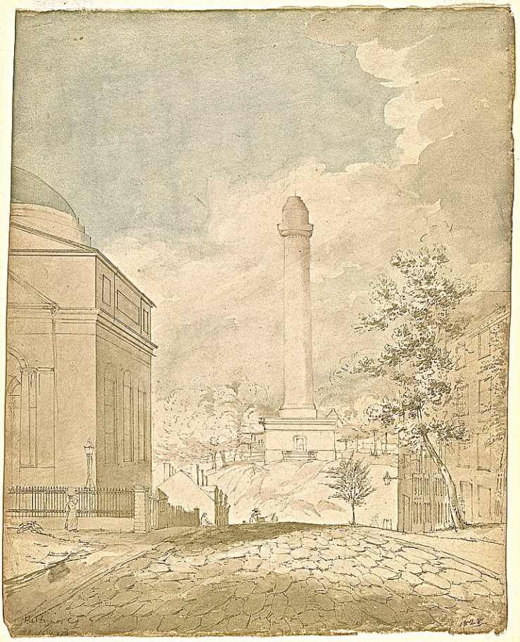 Washington Monument, Baltimore, early 19th c., Library of Congress/enclos*ure