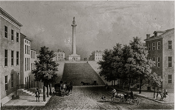 19th c. Washington Monument, Baltimore, Library of Congress/enclos*ure