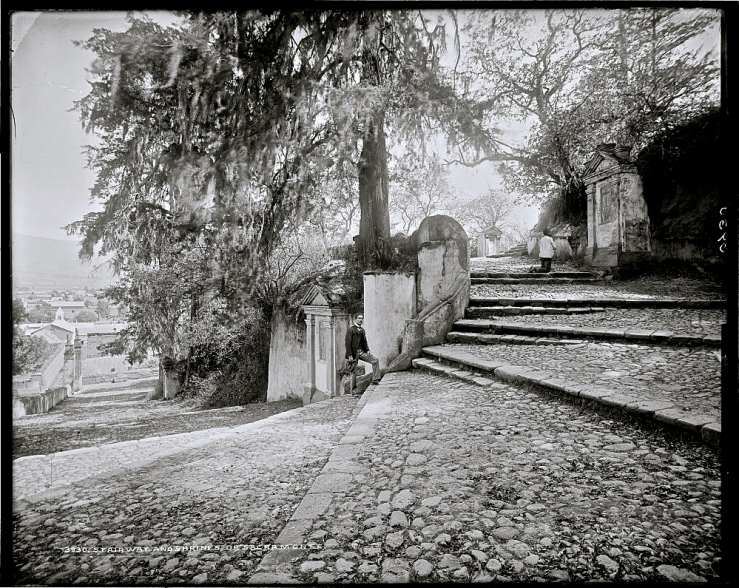 Steps and shrines of Sacramonte, late 1800s, William Henry Jackson, Library of Congress/enclos*ure