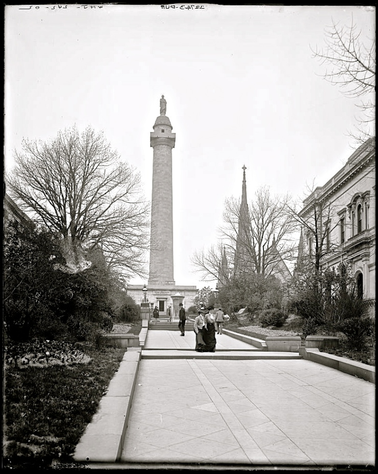 early 20th c. Washington Monument, Baltimore, Library of Congress/enclos*ure