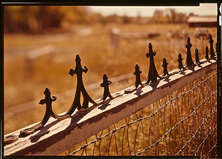 Cast iron fence detail, photo by Jack Boucher, Library of Congress/enclos*ure