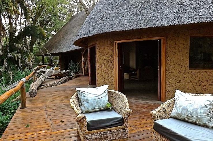 Main lodge, Ruzizi Tented Lodge, Akagera Nat'l. Park, Rwanda:enclos*ure