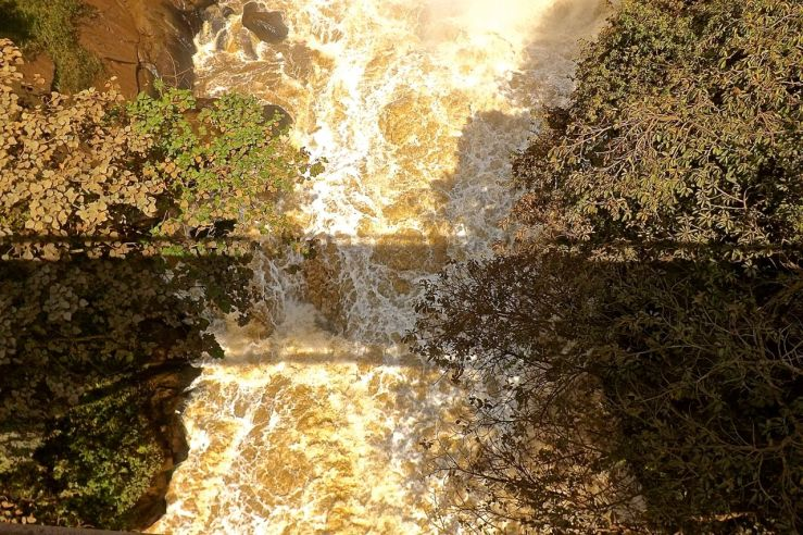 Shadow of the bridge at Rusumo Falls, Rwanda:enclos*ure