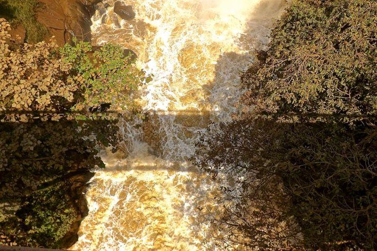 Shadow of the bridge at Rusumo Falls, Rwanda:enclos*ure