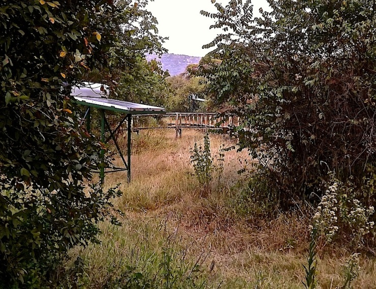 Solar panels for tents, Ruzizi Tented Lodge, Akagera National Park, Rwanda:enclos*ure