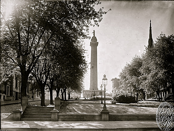 Washington Monument, Baltimore, 1900, Md. Historical Society/enclos*ure