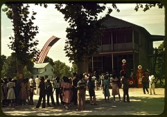 1939 Fourth of July community picnic, early color slides by Marion Post Wolcott, Library of Congress