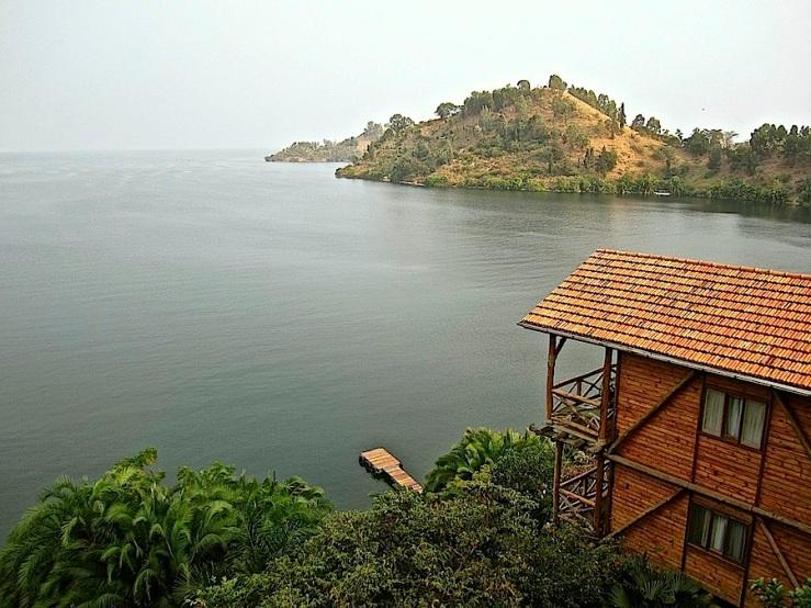 Cormoran Lodge on Lake Kivu, Kibuye, Rwanda/enclos*ure