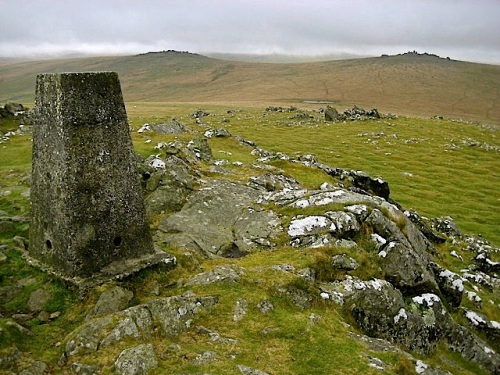 Cox Tor Triangulation Pilar, near Peter Tavy, Dartmoor, Devon, by Nigel Cox.