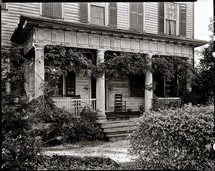 Reed-Morrison Hse, Mt. Mourne, in North Carolina, 1938, via Library of Congress.