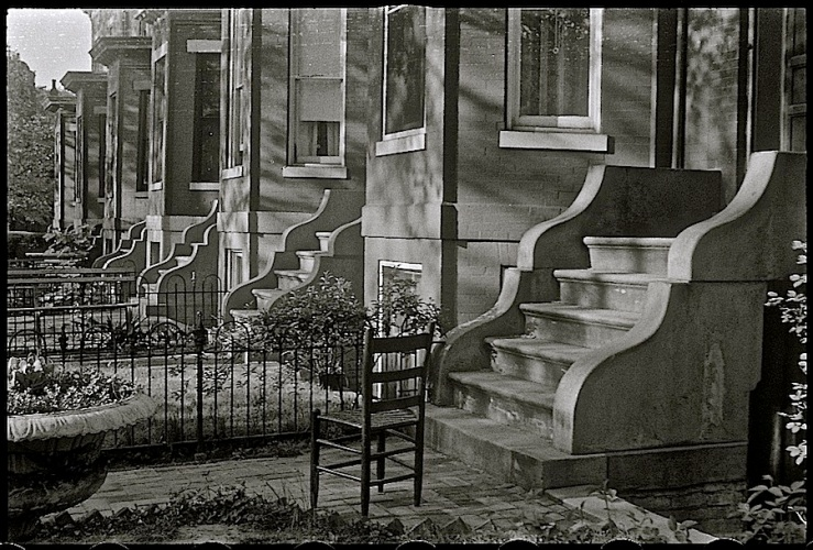Wash. D.C., rowhouses, via Library of Congress