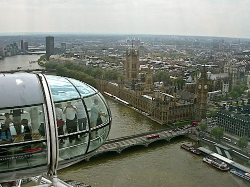 Westminster seen from the London Eye, by Raymond E. Hawkins.