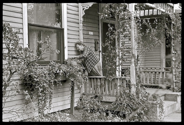 The Sunday porch/enclos*ure: Omaha, Nebraska, 1938, by John Vachon, Library of Congress