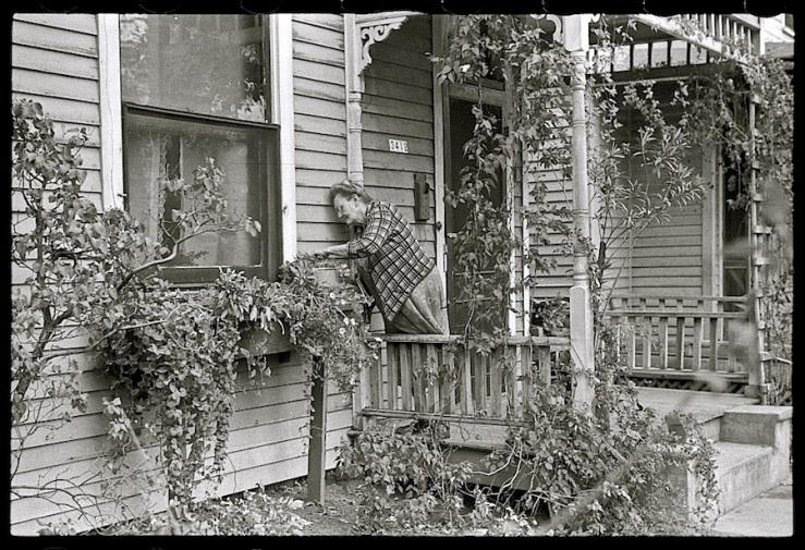 The Sunday porch/enclos*ure: Omaha, Nebraska, 1938, by John Vachon, Library of Congress