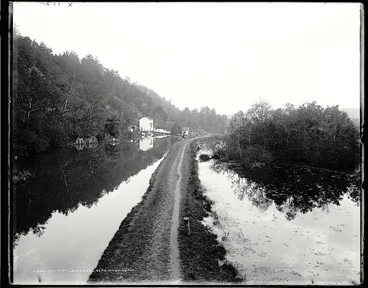 C&O Canal towpath, ca. 1900, Library of Congress