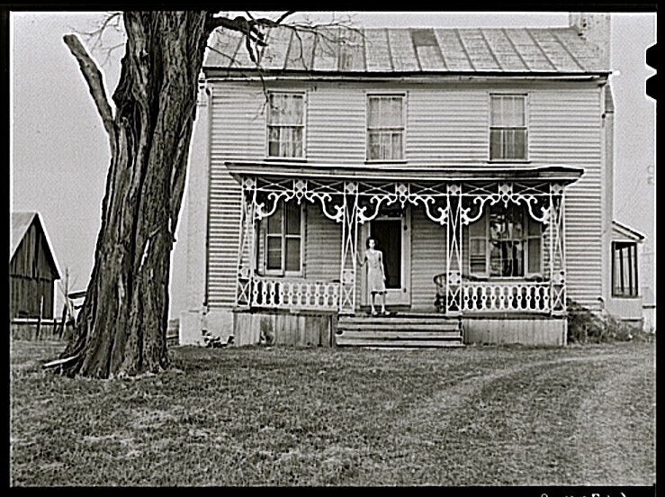 The Sunday porch/enclos*ure: 1940 Kentucky farmhouse, by John Vachon, Library of Congress