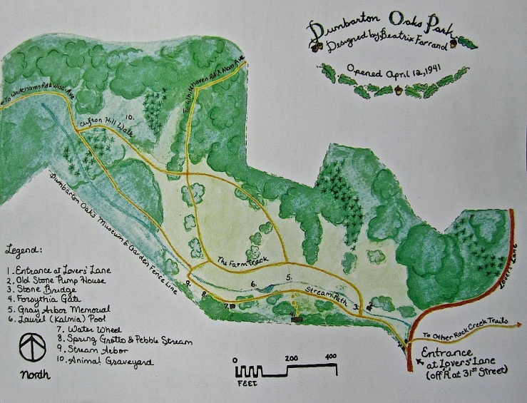 Plan of Dumbarton Oaks Park, Washington, D.C./enclos*ure