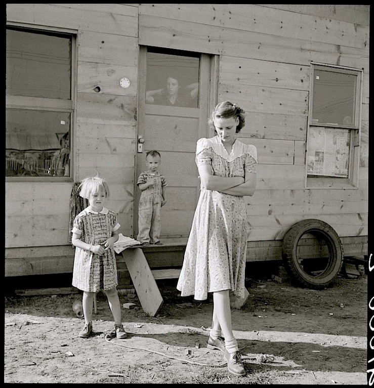 Young mother in squatter camp dreams of a garden, Sept. 1939, by Dorothea Lange, via Library of Congress