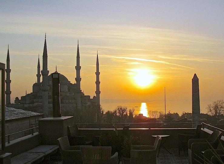 Blue Mosque, Dec. 26, Instanbul