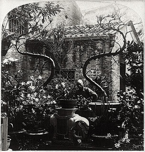 Fati Gardens, 1900, Canton China, via Library of Congress