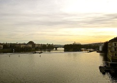 The Vltava River from the Charles Bridge.