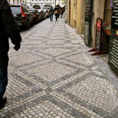 I loved the patterns of the sidewalks, constructed of small stone blocks.