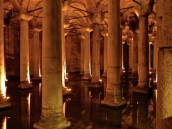 The underground Basilica Cistern, built in the 500s.