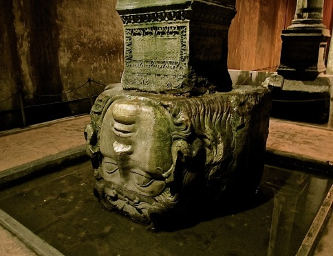 It is not fully understood why the two Medusa heads were brought to the cistern,