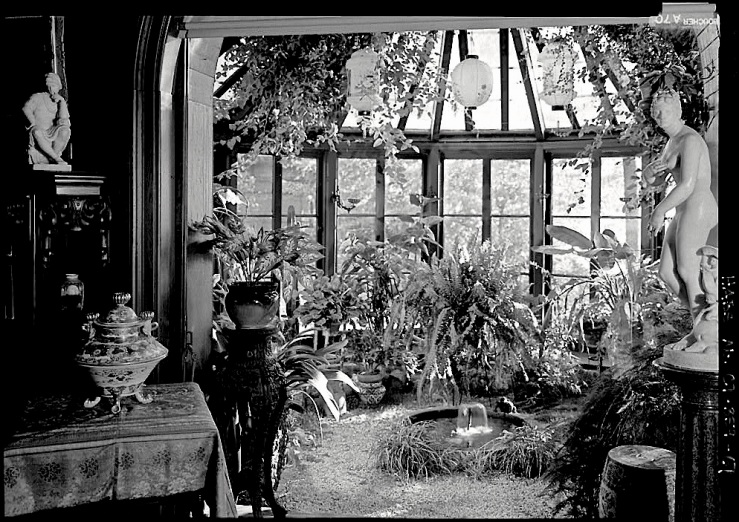 Conservatory, Mark Twain House, HABS, Library of Congress