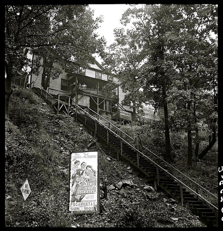 The Sunday porch/enclos*ure: miner's house in Capels, W.V.,1938, by Marion Post Wolcott, via Library of Congress
