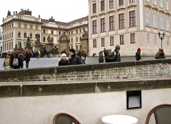 After you climb the hill to Prague Castle,