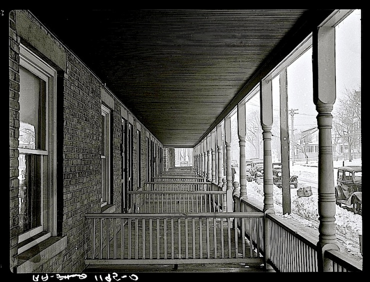 Bound Brook, N.J., Feb. 1936, porches, via Library of Congress